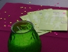 Tischdeko mit Flyer