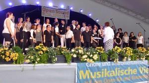 Auftritt der Rhythmicals beim Open Sound Festival junger Chöre auf der Remsparkbühne