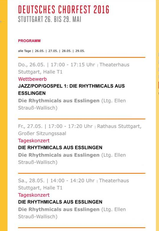 Termine Deutsches Chorfest 2016
